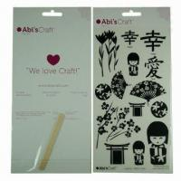 Buy cheap Scratch transfer tattoo sticker/rub-on body tattoo, safe and nontoxic, easy-to-apply and -remove from wholesalers