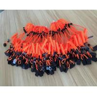 Buy cheap Plastic orange short spiral spring coil lanyard leash with black plastic clip safety coils from wholesalers