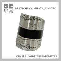Buy cheap Large Stainless Steel Crystal Wine Bottle Thermometer from wholesalers