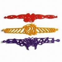 Buy cheap Silicone Tattoo Bracelet, High Elasticity, OEM Designs, Sizes and Colors are Accepted product