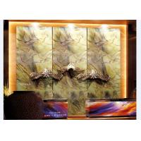 Buy cheap Abstract Art Laminated Decorative Glass Panels For Hotel Receptionist Background from wholesalers