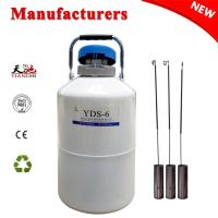 Buy cheap TIANCHI LN2 Container 6L Equine Semen Dewar Tank With Straps 6 Canisters Price from wholesalers