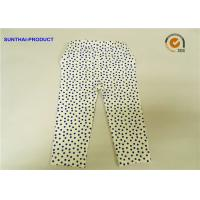 Buy cheap Eco Friendly Cute Baby Girl Leggings Blue Dots With Elastic Waistband from wholesalers
