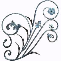 Buy cheap Wrought Iron Rosettes /  Steel Panel / Decorative Wrought iron flower from wholesalers