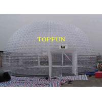 Buy cheap 8m Diameter Inflatable Party Tent Clear Dome Tent Noncontinuous Type from wholesalers