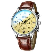 Buy cheap OEM&ODM waterproof Custom quartz movement business watch genuine leather from wholesalers