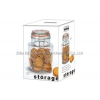 Buy cheap Capacity 1.5L glass food storage jars with lids / glass canister jars Promotional Gifts eco-friendly from wholesalers