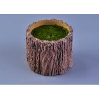 Buy cheap Recyclable Wood Timber Brown Cement Candle Flower Jar Eco - friendly from wholesalers