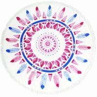 Buy cheap Wholesale Factory Large Custom Printed Round Mandala Cotton Microfiber Beach Towel from wholesalers