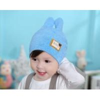 Buy cheap winter children's hat baby eaves hat heart-shaped patch double-ear baby knitted hat manufacturers wholesale from wholesalers