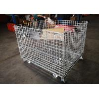 Buy cheap Standard Size Folding Galvanized Anti oxidizing Wire Mesh Cages With Wheels from wholesalers