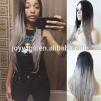Buy cheap Premium quality no tangling human hair front lace wig in nigeria from wholesalers