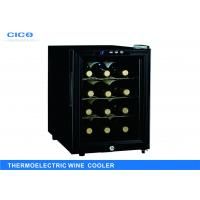 Buy cheap 12 Bottles Silent Wine Refrigerator Black Recessed Door OEM Service from wholesalers