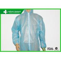 Buy cheap Water Proof /Oil Proof Disposable Coverall Suit For Workers , Painters Wtih Hood from wholesalers