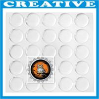 "Buy cheap 1"" Clear Round Epoxy Sticker product"