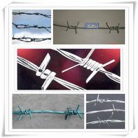 Buy cheap high tensile, BWG 16x16 | 12x14, hot dipped galvanized barbed wire for fencing protection from wholesalers