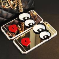 China Red mouth Big Eyes Mirror Cases Iphone 5s Iphone 6s case Iphone 6 Plus Cover Cases on sale