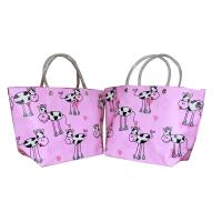 Buy cheap Eco-friendly Recyclable Flowers Purple PP Woven Shopping Bag With PVC Handle from wholesalers