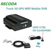 Buy cheap Hard Disk Truck 3G Mobile DVR Wifi Mdvr Support 1TB Hdd And 64GB Sd Card from wholesalers