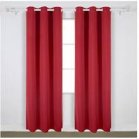 Buy cheap Bright Red Modern Window Curtains With 100 Percents Polyester Shading Fabric from wholesalers
