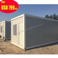 Buy cheap duplex foldable folding flat pack prefab shipping container house from wholesalers