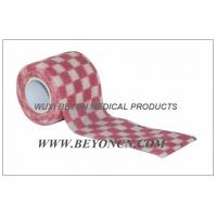 Buy cheap Cohesive Bandages OEM Pink Check Elastic Wrap Custom Printed For Fixation from wholesalers