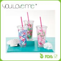 Buy cheap new product high quality 16oz double wall tumbler plastic straw tumbler from wholesalers
