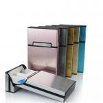 Buy cheap Ultra Thin Fashion Pipe Creative Personality Cigaret Case Slim Metal Cigarette Box Aluminum Gift Box Mini Cigarette Hold from wholesalers