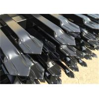 Buy cheap steel ornamental fence panels 2100mm stain black powder spear top design from wholesalers