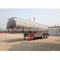Buy cheap 42000l Fuel Tank Trailer Easy To Clean , Fuel Storage Trailer With 24v Lighting System from wholesalers