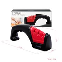 Buy cheap Convenient Red 3 Stage Knife Sharpener For Kitchen Knife Sharpening System from wholesalers