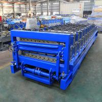 Buy cheap Industrial Double Layer Roof Panel Roll Forming Machine High Efficiency from wholesalers