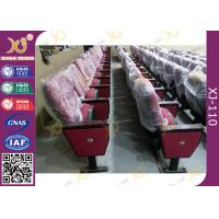 Buy cheap Red Church Hall Theater Room Seating With Row Number Rubber Wood Arm Rest from wholesalers
