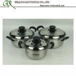 Buy cheap Stainless steel Stripe Belly Casserole Set Cookware set Bakelite handleV-DSB from wholesalers