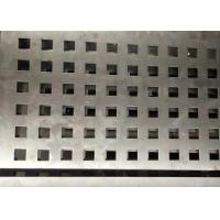 Buy cheap Square Hole Perforated Steel Plate Galvanized Sheet For Architectural from wholesalers