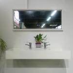Buy cheap Empty Wall Hung Long Wash Basin Acrylic Resin Stone Sink Custom Made from wholesalers