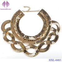 Buy cheap Vintage Fashion Punk Big Simple Metal Chain braid Twist Chain Necklaces from wholesalers
