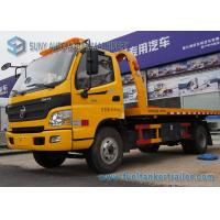 Buy cheap 6 Wheeler 4 X 2 5T Flatbed Tow Trucks For Road Block Removal from wholesalers