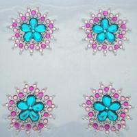 Buy cheap Rhinestone/crystal stickers, eco-friendly, available in various sizes and designs product