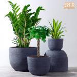 Buy cheap Weathered Garden Pots Clay Flower Pots Resin Outdoor Plant Pots Gray Flower Pots Fiberglass Planters from wholesalers