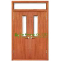 Buy cheap Commercial fire retardant wood doors with glazing,UL Certificated is available from wholesalers