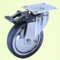 Buy cheap European Style Total Lock Casters with Gray Rubber Wheel from wholesalers