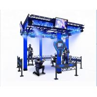 Buy cheap Big Theme Park VR Space Walker 9D Virtual Reality Platform Black / Blue Color from wholesalers