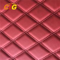 Embroidery PVC Leather with Foam Laminated by Rolls for Car Seat for Car Floor