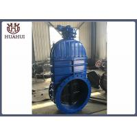 Buy cheap Double Flanged Resilient Seated Gate Valve Gearbox Operated DN600 For Fire Protection from wholesalers