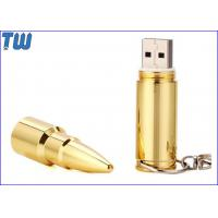 Buy cheap Golden Sniper Rifle Bullet 8GB Pen Drives USB Stick Free Key Chain from wholesalers