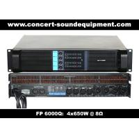 Buy cheap 4 Channel Switch Mode Amplifier / 4x650W FP 6000Q For Stage Monitor And Small Line Array Speaker product