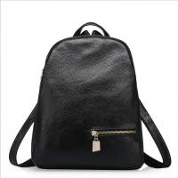 Buy cheap Genuine cow leather school bags black women's bags fashion travelling shoulder bags from wholesalers