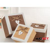 Buy cheap Fabric Surface Kraft Cardboard Gift Boxes Packaging For Chocolate , OEM ODM from wholesalers