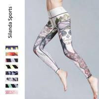 Buy cheap Women Fitness Yoga Sports Leggings Running Tights Printed Yoga Pants Jogging Pants Fitness Wear Quick Dry Outfit from wholesalers